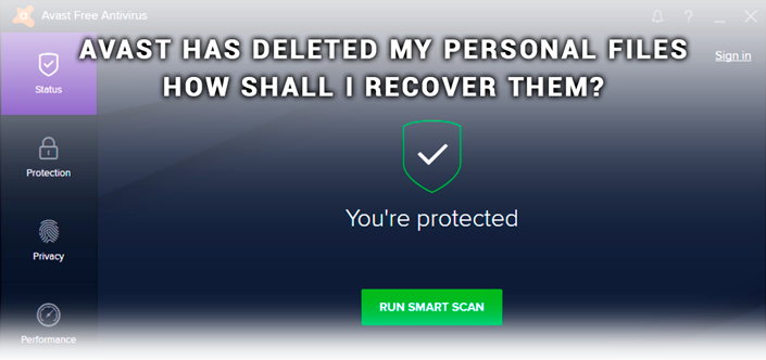 Avast deleted my files