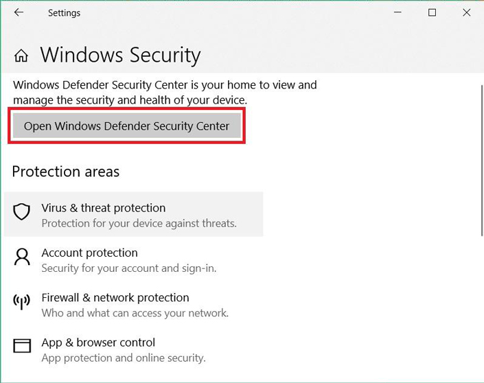 Windows security menu