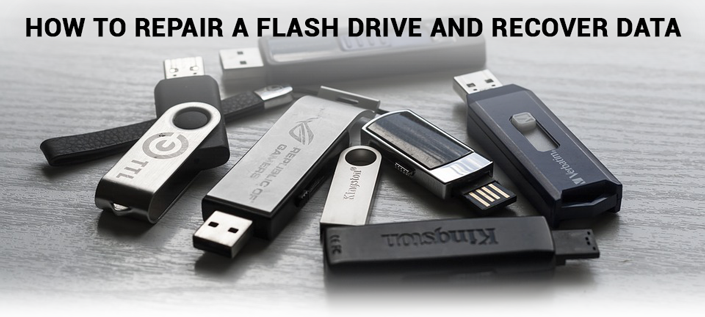 Repairing flash drive and further data recovery