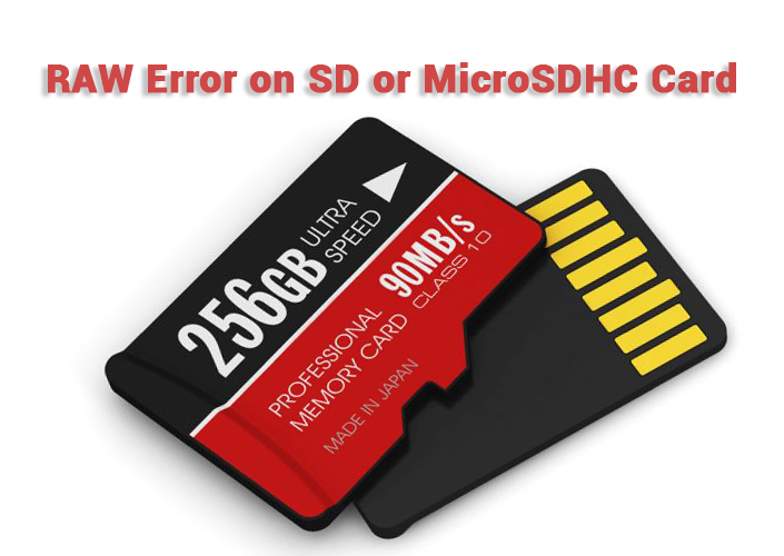 RAW error on SD or microSD card