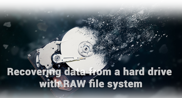 Recovering data from a hard drive with RAW file system