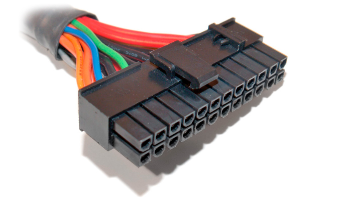 The main connector that powers the motherboard