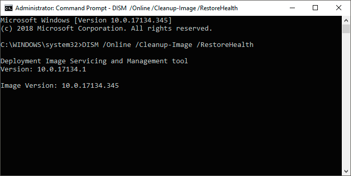 DISM command - RestoreHealth