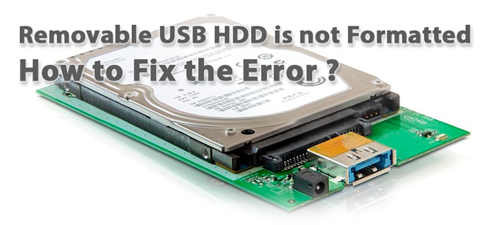 USB HDD is not formatted