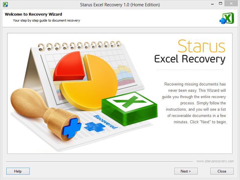 Click to view Starus Excel Recovery screenshots