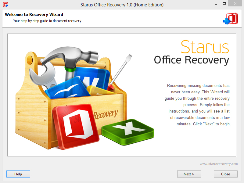 Click to view Starus Office Recovery screenshots
