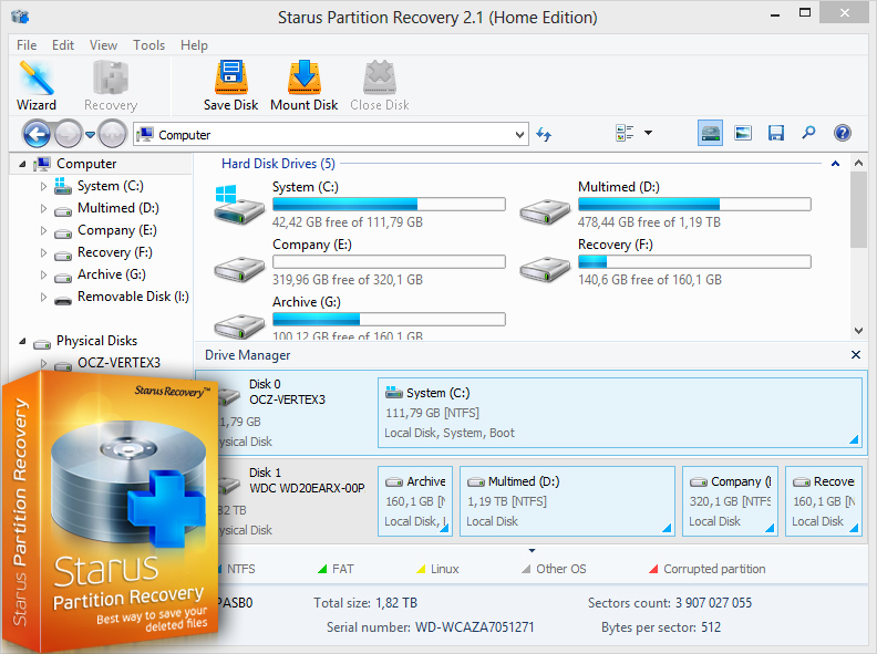 Recover data from corrupted disk volumes