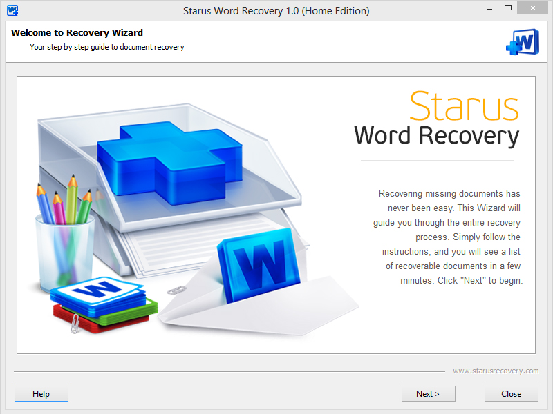 Click to view Starus Word Recovery screenshots